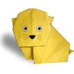 кошка оригами