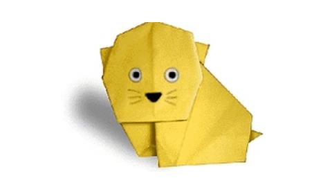 Кошка сделана из оригами