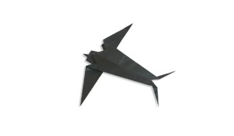 Ласточка оригами