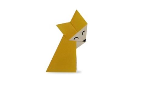 лиса оригами