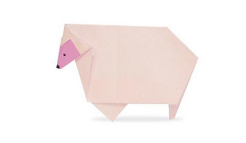 овца оригами