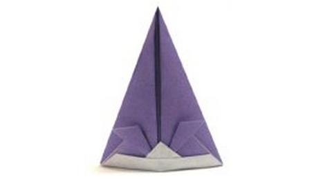оригами шапка