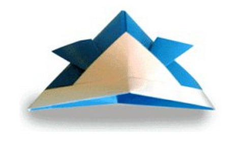 самурайский шлем оригами