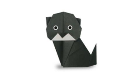 Черная кошка оригами