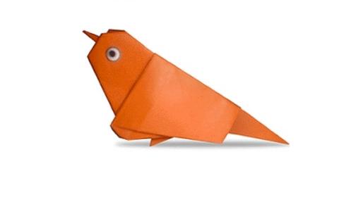 воробей оригами
