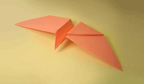 вращающаяся птичка оригами