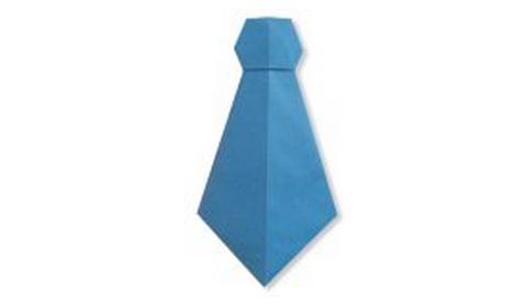 галстук оригами