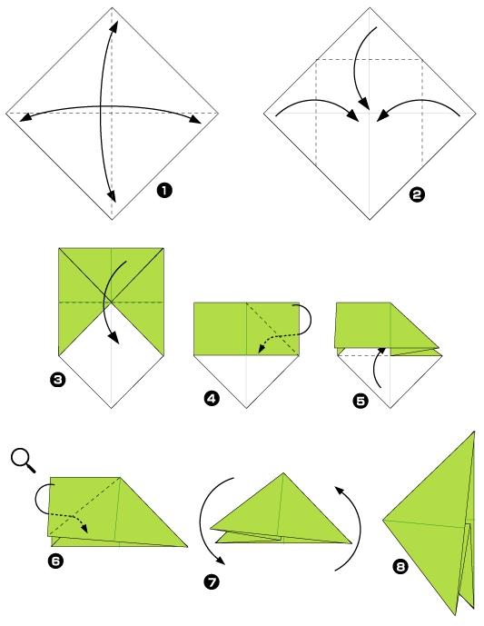 еж оригами 1ч