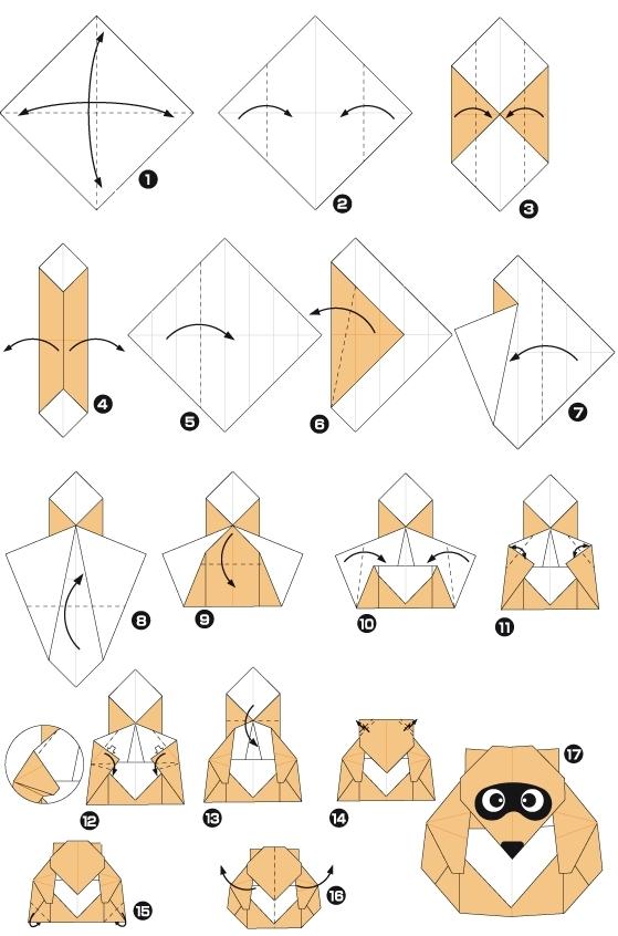 енот оригами