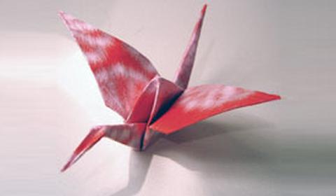 Как сделать журавлика оригами?