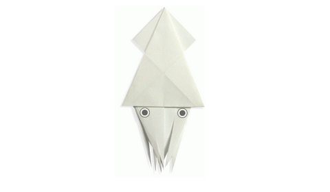 кальмар оригами