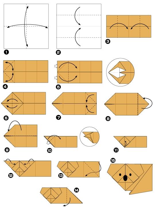 Как сделать из бумаги модульное оригами животные