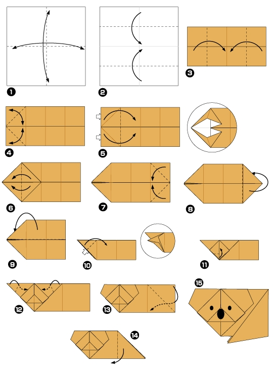коала оригами