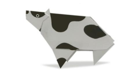 корова оригами