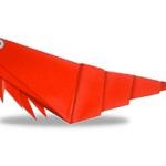 креветка оригами