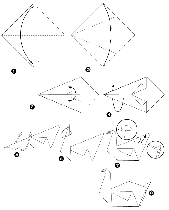 двойного лебедя: Схема