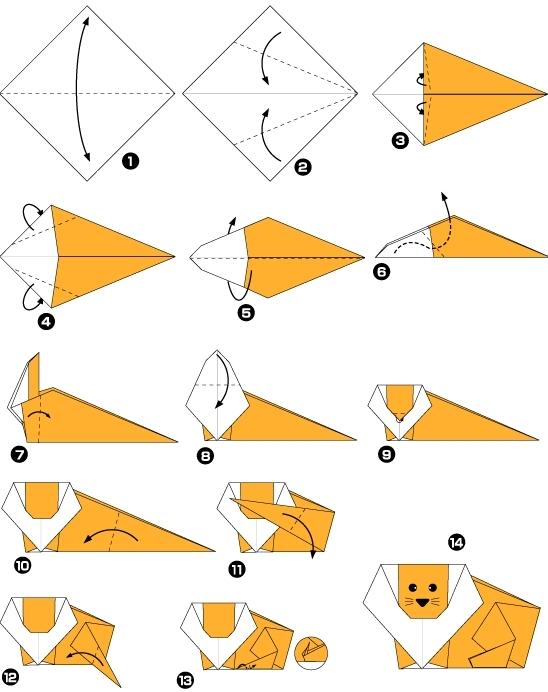 Как сделать оригами звери