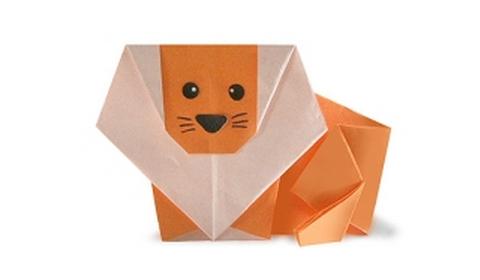 Как сделать льва оригами?