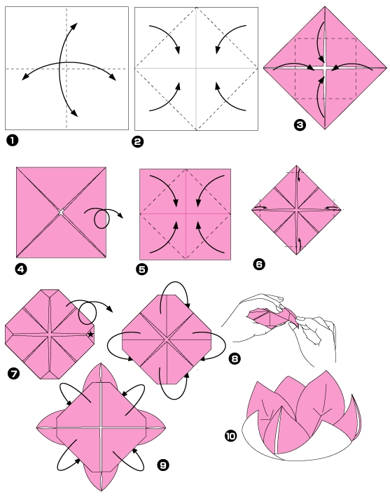 Смотрим схему: лотос1чоригами