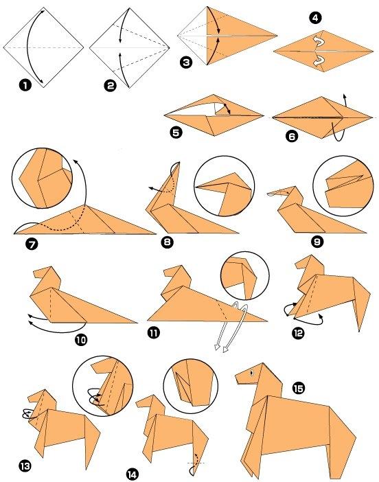 лошадь оригами. Смотрим видео: