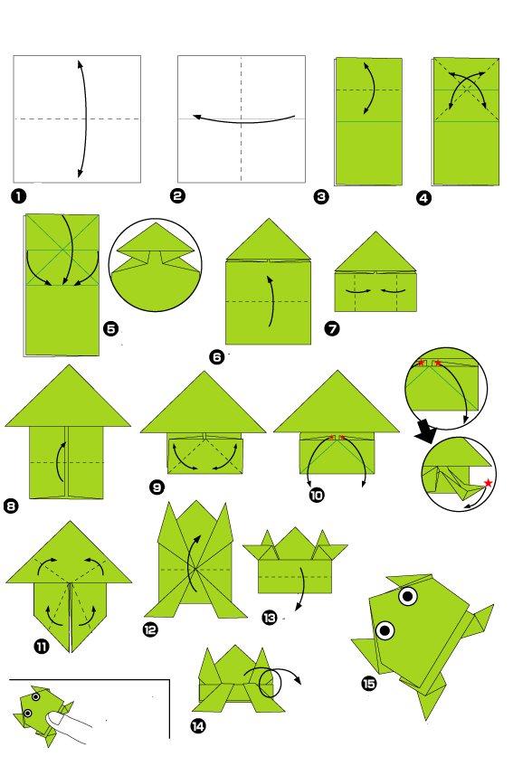 лягушка оригами. Смотрим видео