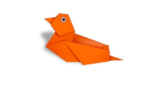 мандаринка утка оригами