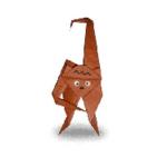 обезьяна оригами