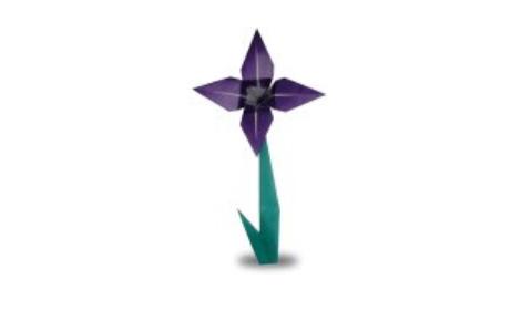 орхидея оригами