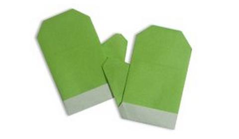 перчатки оригами