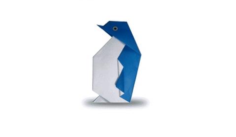 Как сделать пингвина оригами?