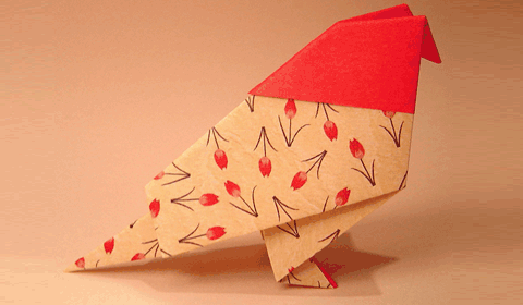 птица оригами