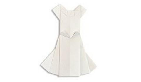 свадебное платье оригами