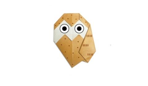 сова2 оригами