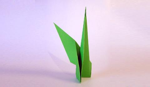 стебель цветка оригами