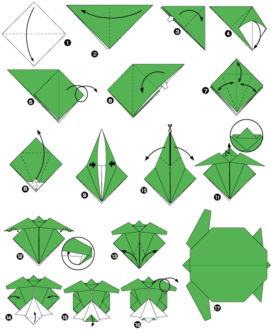 черепаха оригами