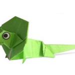 ящерица оригами