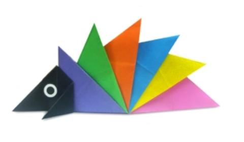 Ёжик. ёж оригами