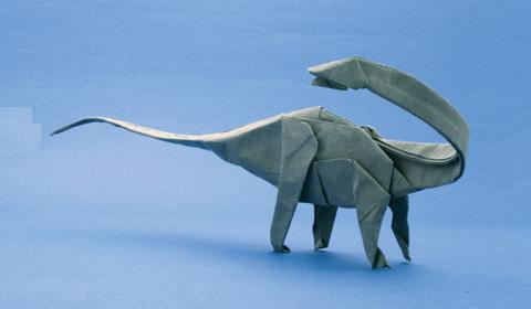 Оригами динозавры. Схема