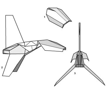 Имперский шатл оригами 24