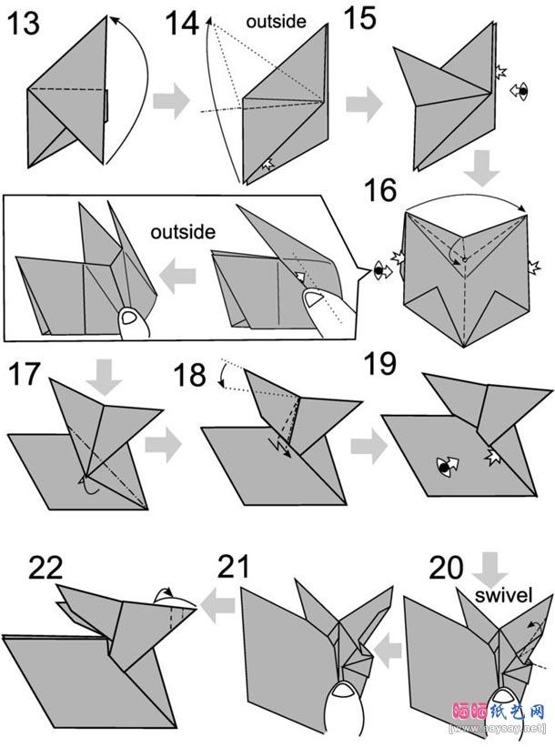 Кролик оригами2