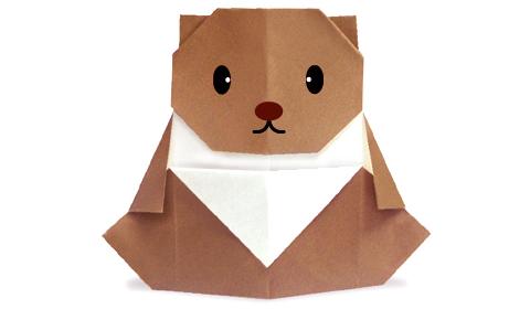 Как сделать медведя оригами?