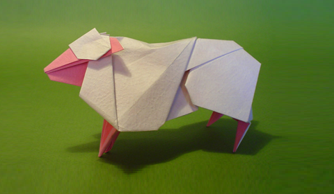 Овечка оригами схема