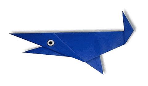 акула оригами