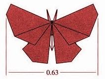 бабочка оригами 1