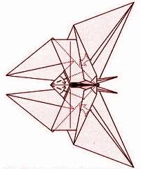 бабочка оригами 32
