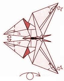 бабочка оригами 34