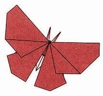бабочка оригами 35