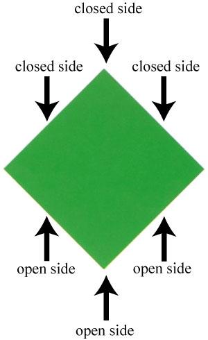 квадратной базы оригами,