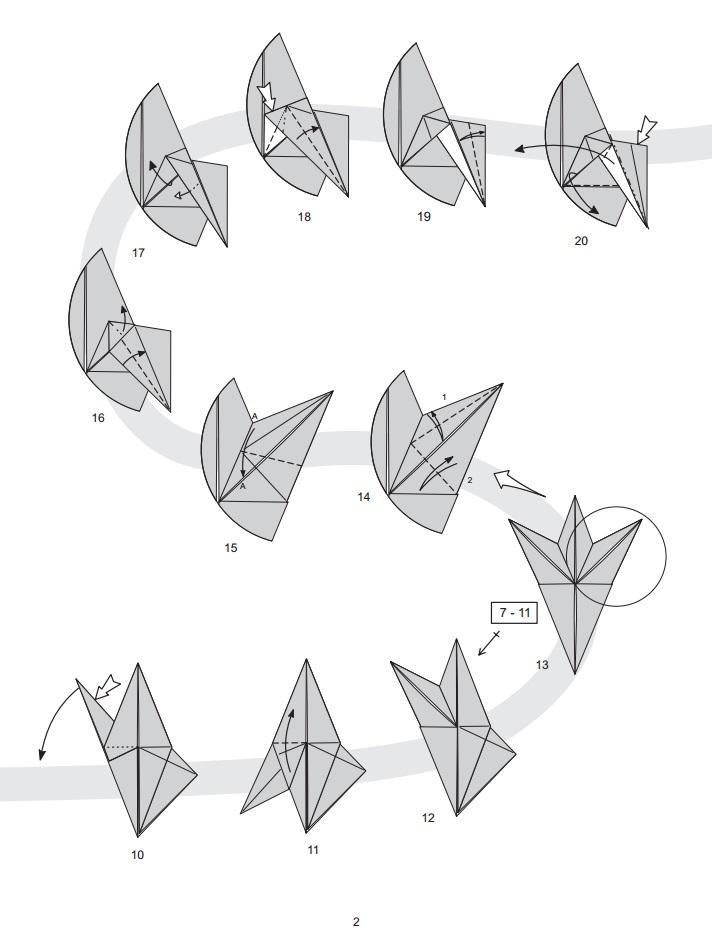 Как сделать баклана оригами?