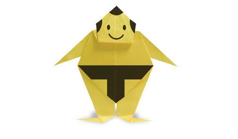 борец сумо оригами
